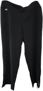 Lisette L Fit To Flatter Pearl Trim New With Tags Flare Pants Black