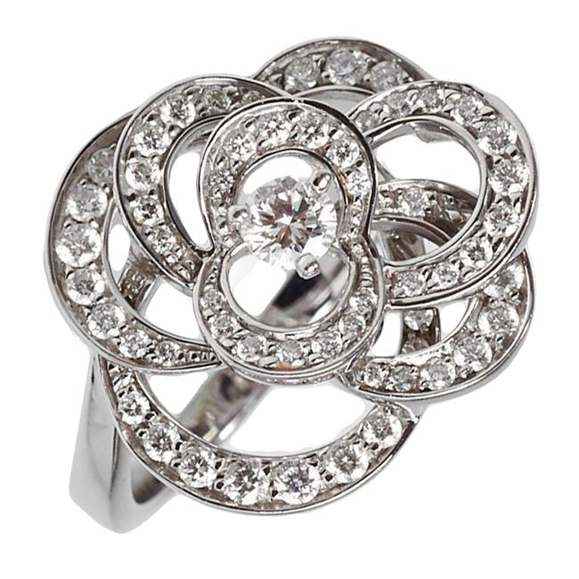 Item - White Gold Camelia Diamond Cocktail 2135 Ring