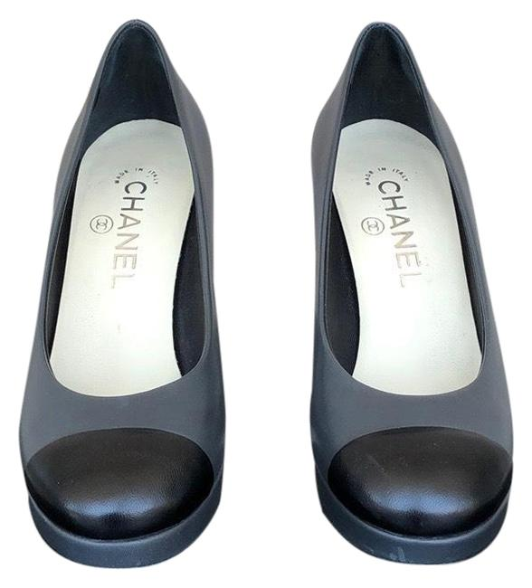 Item - Gray and Black & Pumps Size US 6.5 Wide (C, D)