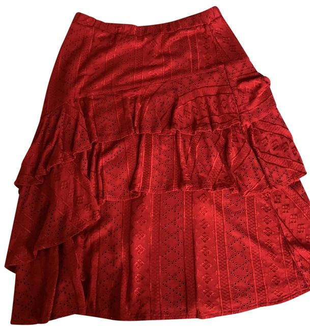 Item - Red Skirt Size 4 (S, 27)