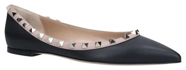 Item - Black Blush Powder Ballerina Rockstud. Flats Size EU 36 (Approx. US 6) Regular (M, B)