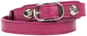 Balenciaga Pink Leather Studded Two Loop