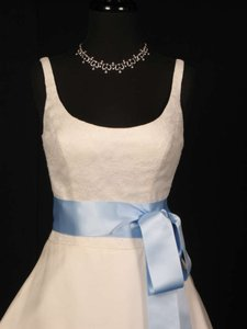 Light Blue Ribbon Sash 2 3/4