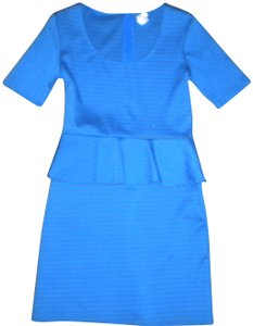 Xhilaration Short Sleeve Ruffle Waist Blue/Olive Dress