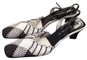 Bruno Magli black and white Sandals