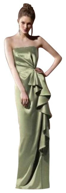 Dessy Green 8100 Long Night Out Dress Size 12 (L) Dessy Green 8100 Long Night Out Dress Size 12 (L) Image 1