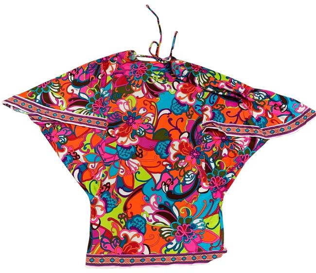 Item - Pink Orange Multi Cover Up/ Mini Dress Cover-up/Sarong Size 4 (S)