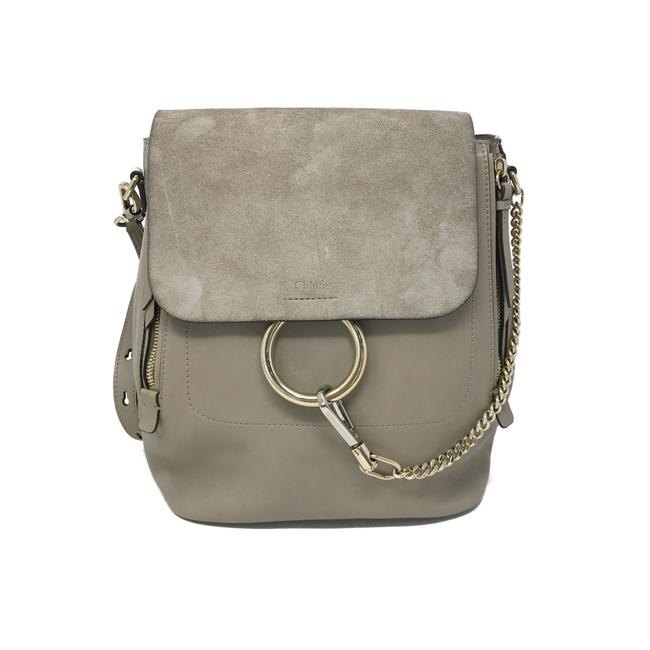 Item - Faye Medium Molty Grey Suede Leather Backpack