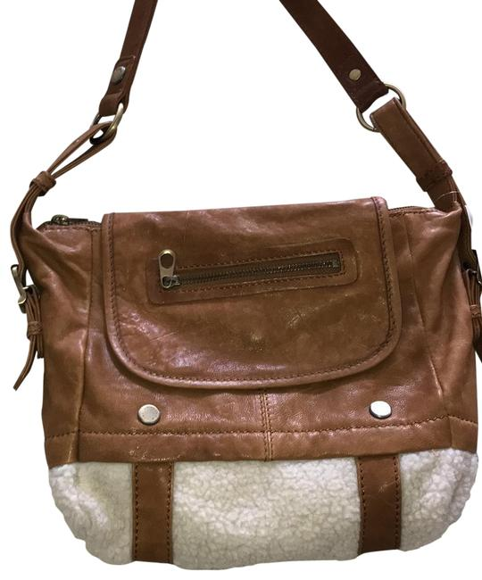 Item - By Andrew Cream and Tan Lambskin Leather Shoulder Bag