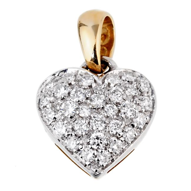 Item - Gold Diamond Heart Pendant Necklace 970 Charm