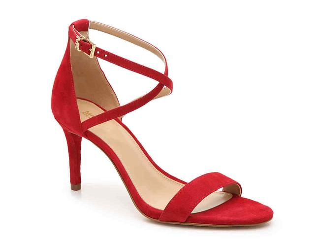 Item - Red Ava Strappy Buckled Scarlet 8.5m Sandals Size US 8.5 Regular (M, B)
