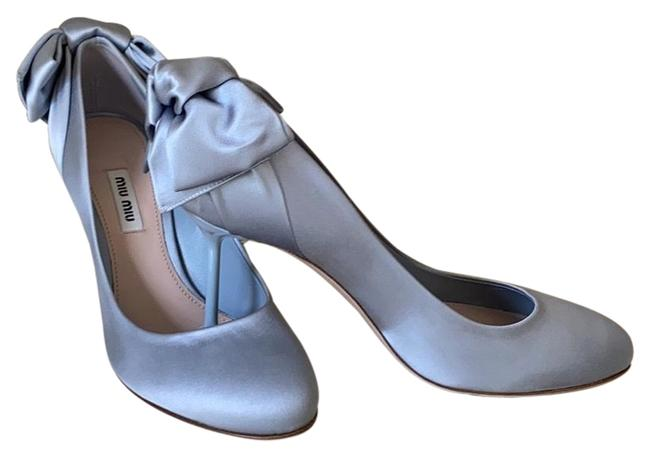 Item - Grey Satin Pumps Flats Size EU 38 (Approx. US 8) Regular (M, B)