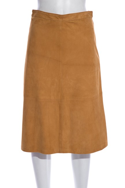 Item - Tan Dolce & Gabbana Suede Skirt Size 4 (S, 27)