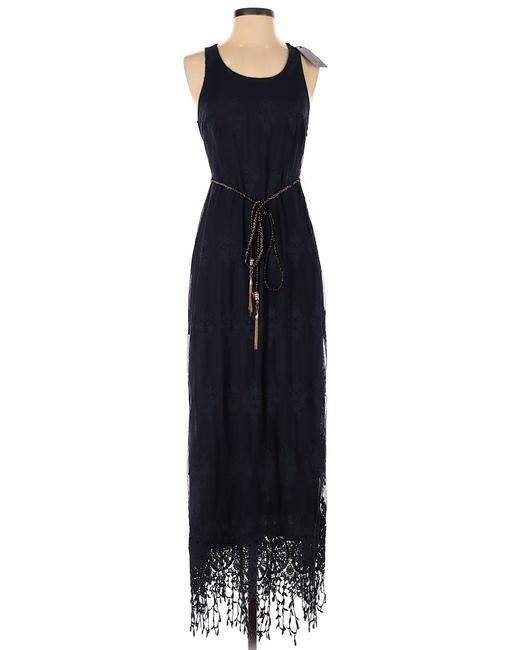 Item - Blue Lace Long Casual Maxi Dress Size 8 (M)