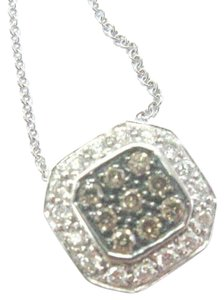 "LeVian Fine Levian Multi Color NATURAL Diamond Square Pendant Necklace 18"" .4"