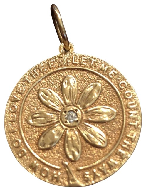 Item - Gold 14k How Do I Love Thee Charm