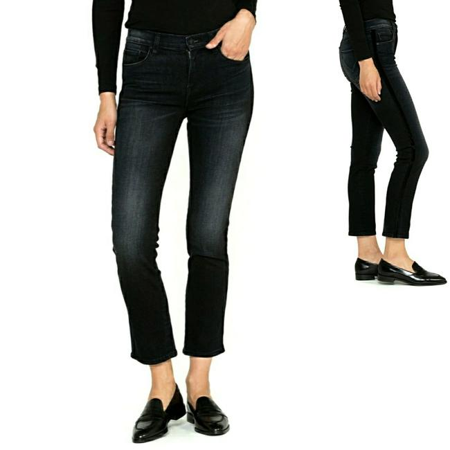 Item - Black Nico Mid-rise Straight Capri/Cropped Jeans Size 29 (6, M)