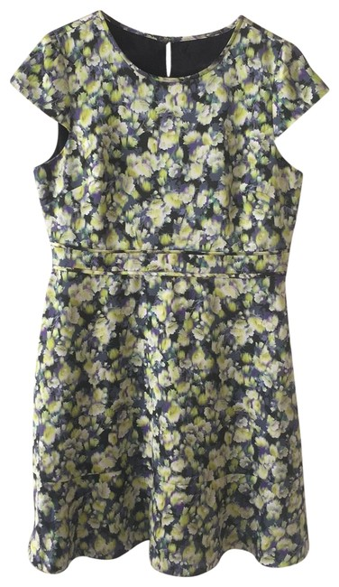 Item - Yellow Capsleeve In Clover Mid-length Work/Office Dress Size 14 (L)