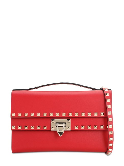 Item - Shoulder Rockstuds In Smooth Leather Red Cross Body Bag