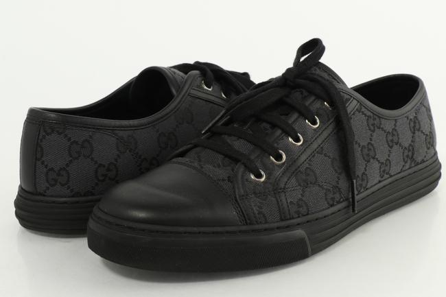 Item - Black/Gray Gg Canvas Low-top Sneakers Shoes