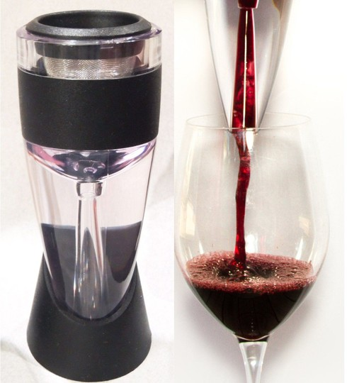 "Clear 6""X 2.25"" Red Wine Aerator Filter Magic Decanter Essential Wine Aerator Box Set"