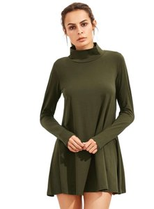 Dainty Hooligan short dress Army green Fall Winter Long Sleeve Turtleneck on Tradesy