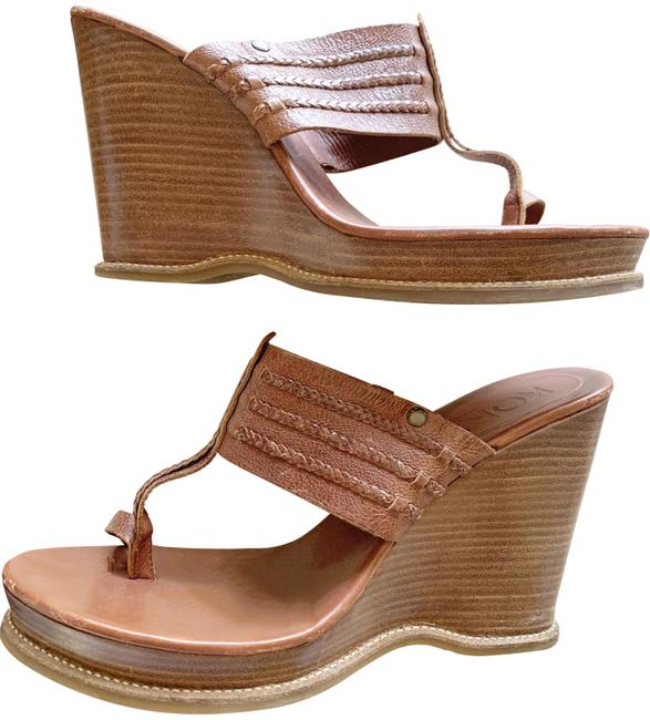 Item - Brown Wedges Size US 10 Regular (M, B)