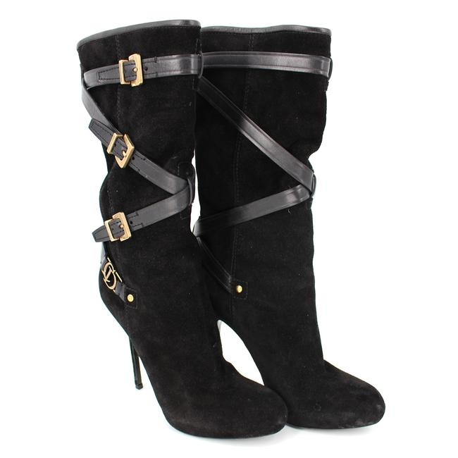 Item - Black Low Suede Strappy Buckle Boots/Booties Size EU 38 (Approx. US 8) Regular (M, B)