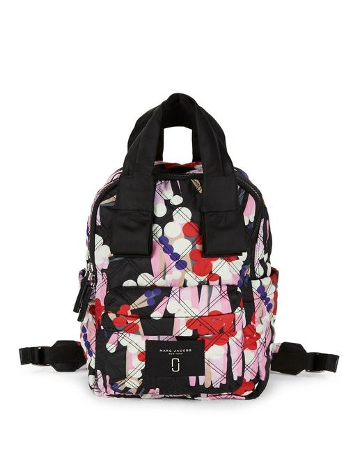 Marc Jacobs Floral Print Casual Black Multi Nylon Backpack Marc Jacobs Floral Print Casual Black Multi Nylon Backpack Image 1