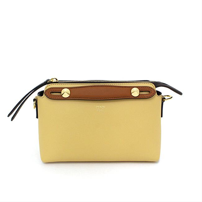 Item - By The Way Small 8bl1455qjf1b8c Gold Hardware Beige / Yellow Cotton / Leather / Polyester / Elastane Shoulder Bag