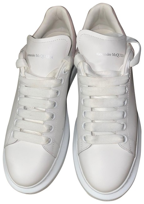 Item - White & Soft Pink Women's Suede and Leather Platform Sneakers Size EU 39 (Approx. US 9) Narrow (Aa, N)