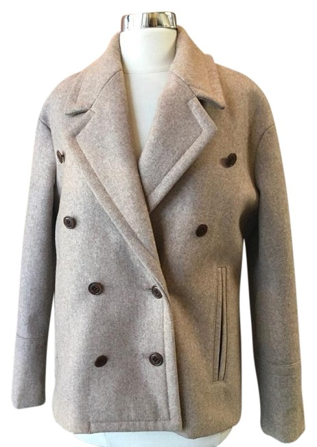 Item - Beige Tan Wool Jacket Coat Size 0 (XS)