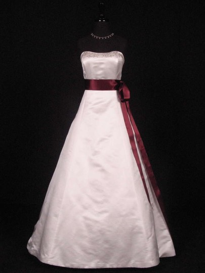 Burgundy Red Ribbon Sash
