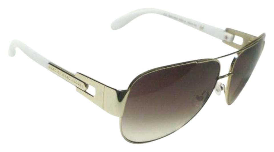 7be926efc197 Marc by Marc Jacobs Gold/ White Mmj 107/S 107 Sunglasses - Tradesy