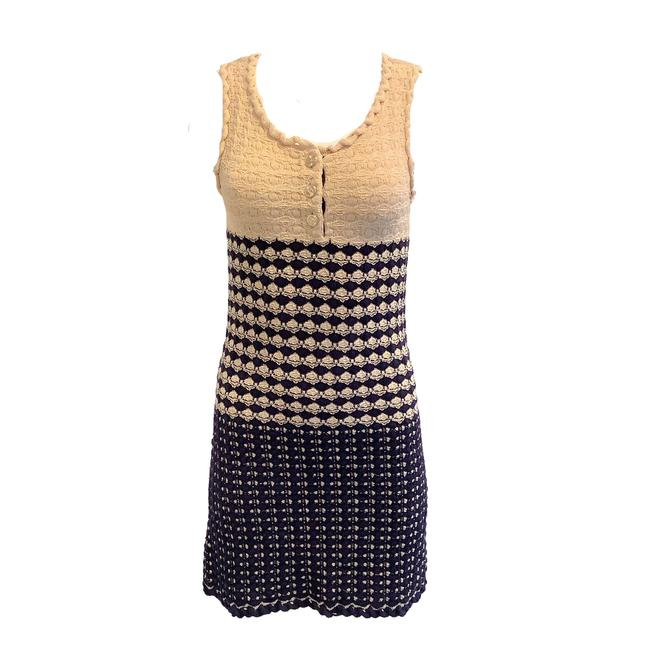 Item - Beige and Black Tweed Short Casual Dress Size 2 (XS)