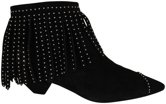 Item - Black Blaze Laced Fringe Ankle Boots/Booties Size EU 39 (Approx. US 9) Regular (M, B)