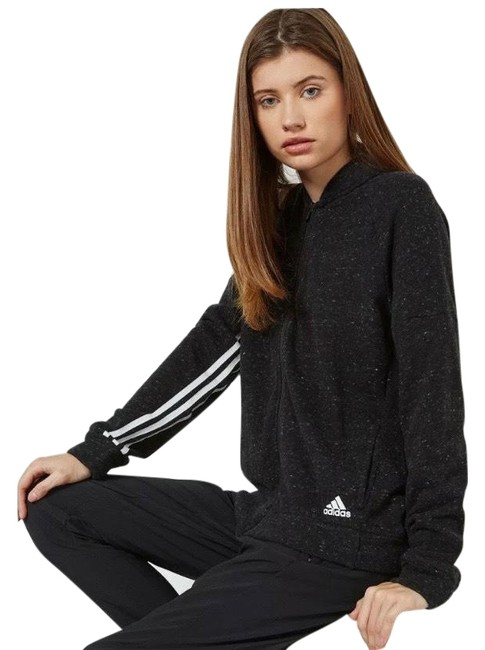 Item - Black White French Terry S2s Track Activewear Outerwear Size 4 (S)
