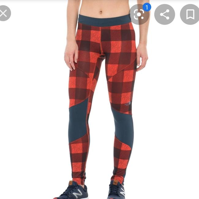 Item - Orange - Red Motus Running Tights Iii In Plaid Activewear Bottoms Size 4 (S, 27)