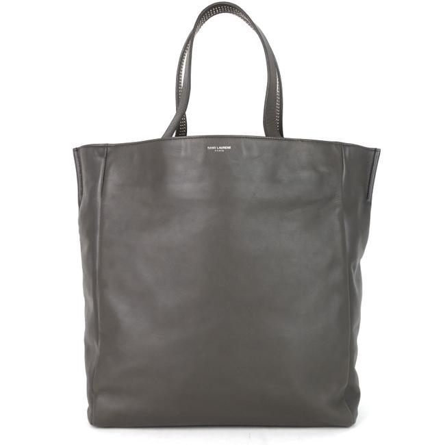 Item - Studded Reversible and Suede Grey Leather Tote