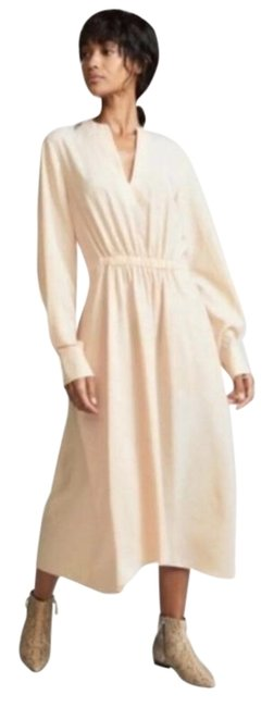 Item - Cream Poet Long Night Out Dress Size 8 (M)