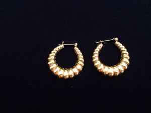 Other 14k Hollow Shrimp Earrings