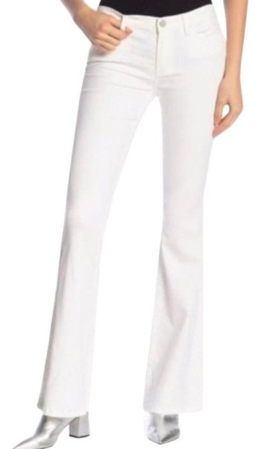 Item - White Silver Light Wash Solid Cosmic Flare Leg Jeans Size 26 (2, XS)