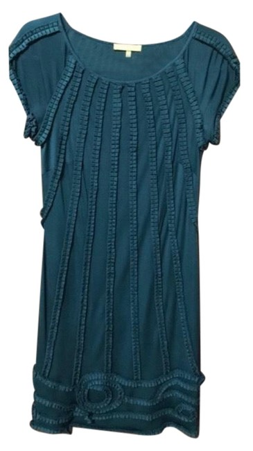 Item - Green Silk Forest Mid-length Cocktail Dress Size 8 (M)