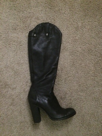 Juicy Couture Tall Leather High Heel Black Boots