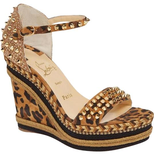 Preload https://img-static.tradesy.com/item/27624058/christian-louboutin-brown-madmonica-leopard-caramel-black-spike-sandal-120-wedges-size-eu-37-approx-0-1-540-540.jpg