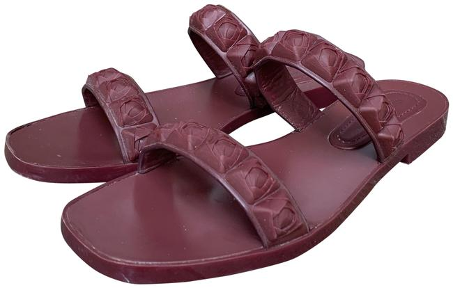 Item - Maroon Jelly + Leather Sandals Size US 7 Narrow (Aa, N)