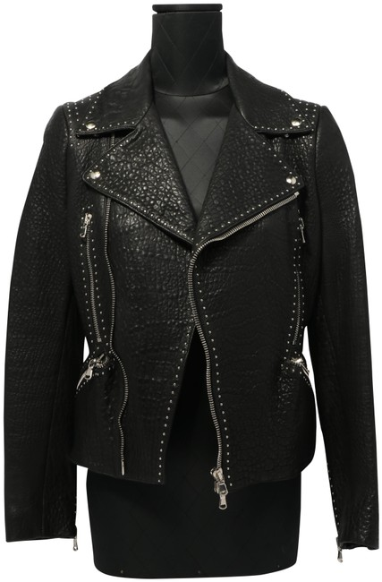 Item - Black Stud Moto Jacket Size 8 (M)