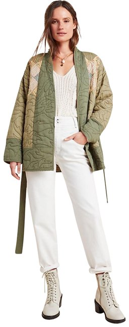 Item - Green Kimono Quilted Patchwork Jacket Size 20 (Plus 1x)