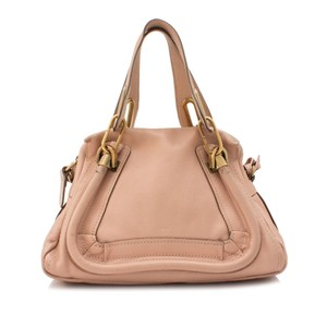 Chloe Res0gclst015 Vintage Leather Satchel in Pink
