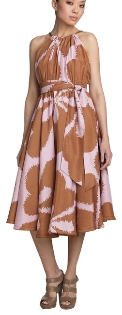 Item - Pink and Tan Dvf Naro Silk Long Casual Maxi Dress Size 4 (S)